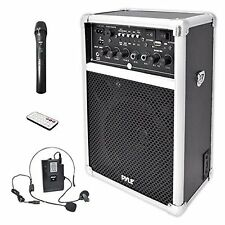 "Sound System For Event Church Preach Wireless USB SD MP3 VHF Mic 6"" Rechargeable"