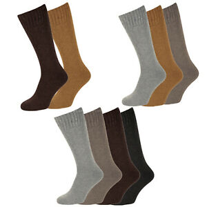 NEW Mens Long Warmth Comfort Merino Lambs Wool Blend 2.4 Tog Socks - UK 6-11