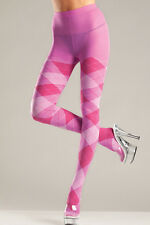 BW-646 Sexy Bubblegum Pink Argyle Tights Winter Pantyhose Hosiery