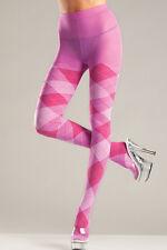 Plus Queen Size Sexy Bubblegum Pink Argyle Tights Pantyhose Hosiery BW-646Q