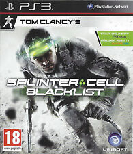 SPLINTER CELL BLACKLIST for Playstation 3 PS3 - with box & manual