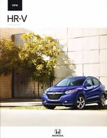 2016 Honda HR-V HRV 20-page New Original Car Sales Brochure Catalog