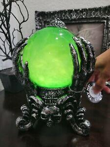 Martha Stewart Halloween Crystal Ball LIGHT UP Sound Water Globe Prop Decor