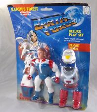 Vintage 1985 Pace Toys Earth Force Flight Team Figure Deluxe Play Set MOC SEALED