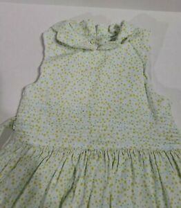 Vintage Laura Ashley Girls Yellow blue Floral Smocked Dress Size 6