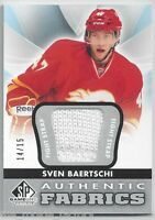2012-13 SP GAME USED AUTHENTIC FABRICS FIGHT STRAPS #AFSV SVEN BAERTSCHI /15