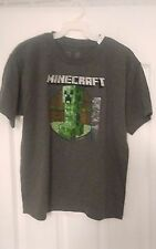 Mojang minecraft boys gray short sleeve t shirt-size 14/16-YL