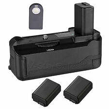 Vivitar Battery Grip for Sony A6300 + 2x NP-FW50 Replacement battery