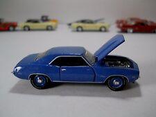 1969 Copo Chevy Camaro Blue By M2 Machines Castline 1/64 Scale JC31