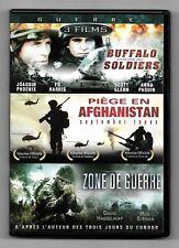 DVD 3 FILMS DE GUERRE / BUFFALO SOLDIERS + PIEGE EN AFGHANISTAN + ZONE DE GUERRE