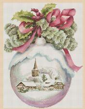 Christmas Cross Stitch Chart-Noël Boule Neige Globe no 438.TSG37