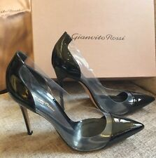 Gianvito Rossi Plexi Black Patent Leather Pumps Heels BNIB Size 6 EU39 RRP£520