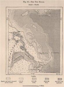 Kilwa Kivinje & Kilwa Kisiwani Island. Tanzania. German East Africa 1885 map