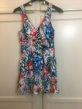 Azul by Maxine of Hollywood- Floral Swim Dress size 14 White multi-color