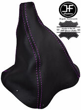 PURPLE STITCH REAL LEATHER MNAUAL GEAR BOOT FITS FORD FALCON & FAIRMONT EA EB ED