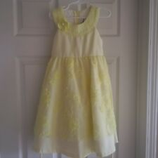 Easter / Spring Dress - Girls size 6 Yellow