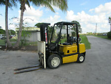 "Glp060 6000 Lb Yale Forklift Propane Side Shift - Lift 182"" 1656 hrs Pneumatic"