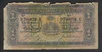 Australia R-21. (1918) Cerutty/Collins - One Pound.. D Prefix, E Suffix..  Good