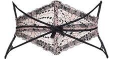 AGENT PROVOCATEUR 14-16 Pink Black Lace CAITLIN Waspie Corset Waist-Cincher NWT