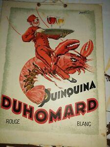 Ancien Carton publicitaire quinquina Duhomard Thouars 79 café bistrot 1930