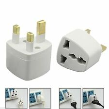 European/ Universal Converter EU 2 to 3 Pin Plug UK Travel Mains Power Adaptor
