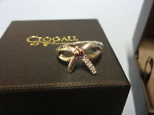 Welsh Clogau Silver & Rose Gold Tree Of Life Bow Ring Size J RRP £119