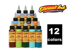 ETERNAL Tattoo Ink Frank LaNatra Atmospheric Landscapes Set Exotic 12 color 1/2