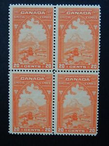 "#E3 MNH  enticing block of 4 of Special Delivery stamps of ""Confed. Issue"" $600."