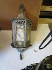 Vintage Stained Glass Hall or Porch Lantern
