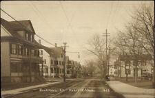 Everett MA Buckman St. c1910 Real Photo Postcard