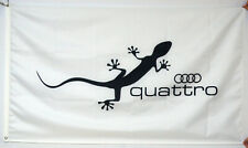 AUDI QUATTRO GECKO FLAG BANNER 3X5FT US Seller Free Shipping