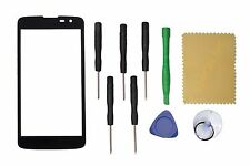 Black Outer Front Screen Glass Lens Replacement For LG Q7+Tools