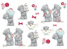NEW FunToSee™ Wall Art Stickers �� TATTY TEDDY BEAR Tea Party Kids Nursery ����