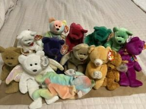Ty Beanie Baby Bears Lot - 13 Bears - Vintage - Errors - Rare - Collectible