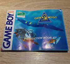 Nintendo Gameboy (GB) // SeaQuest DSV - Anleitung/Instructions //dt. PAL