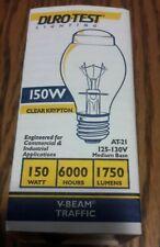 duro test 06584 150w AT21 125-130v v beam traffic incandescent light bulbs 10 pc