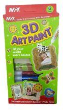 ds 3D Art Kit 6 Colori Colla Glitter Decorativa Decorare Dipingere Oggetti dfh