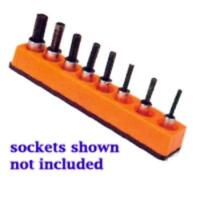 Mechanics Time Saver 384 3/8 In. Drive Universal Magnetic Solar Orange Socket