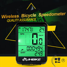 Wireless LCD Waterproof Cycling Bike Computer Backlight Speedometer Odometer USA