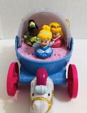 Little People Disney Princess Cinderella &HerMusical Coach Carriage,Tiana&Aurora