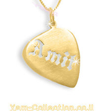 Custom Guitar Pick Name Necklace - Name Jewelry -