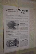 Instructions for use Noris Triumpf 150 Spezial English Francais (BI111)