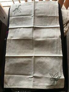 55% Hemp 45% Cotton Large Tea Towel Natural