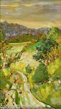Andre Vignoles(1920-     )French Landscape,Sunset,Oil Painting,