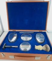 .ENGLISH STERLING SILVER MENS TOILETRY SET MADE TO ORDER, VALUATION 2500 POUNDS.