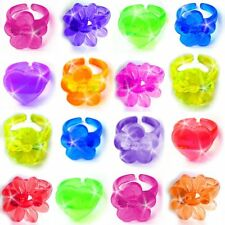 German Trendseller® - 12 x Jelly Ringe - Kinder Mix | Schmuck | Mitgebsel