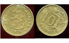 FINLANDE   10 pennia  1976