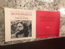 1978 An American Prayer Jim Morrison & the Doors Advertising Promo Poster 24X12