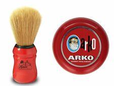 OMEGA Shaving BRUSH Boar Bristle   ARKO Shaving SOAP In BOWL   Shaving Set
