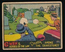 1936 R60 Gum Inc. (Group 4) G-MEN & HEROES #151 Death Among The Gravestones